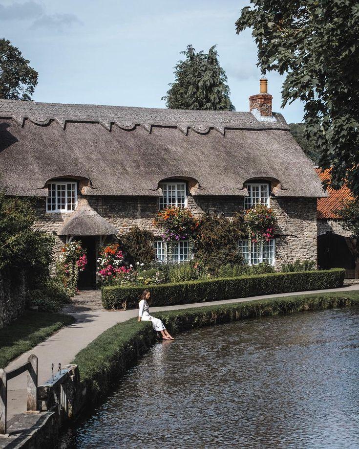 Pretty english village in North York Moors Nationa...