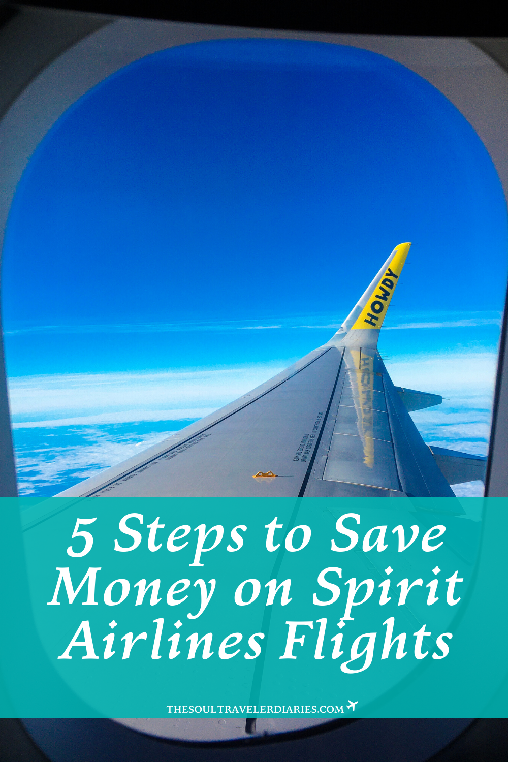 5 steps to help you save even more money when flying with the budget airline - Spirit Airlines. Simple tips to get 20-50% of your flights. #budgetairlines #budgettraveltips #cheapflightdeals #budgettravelhacks