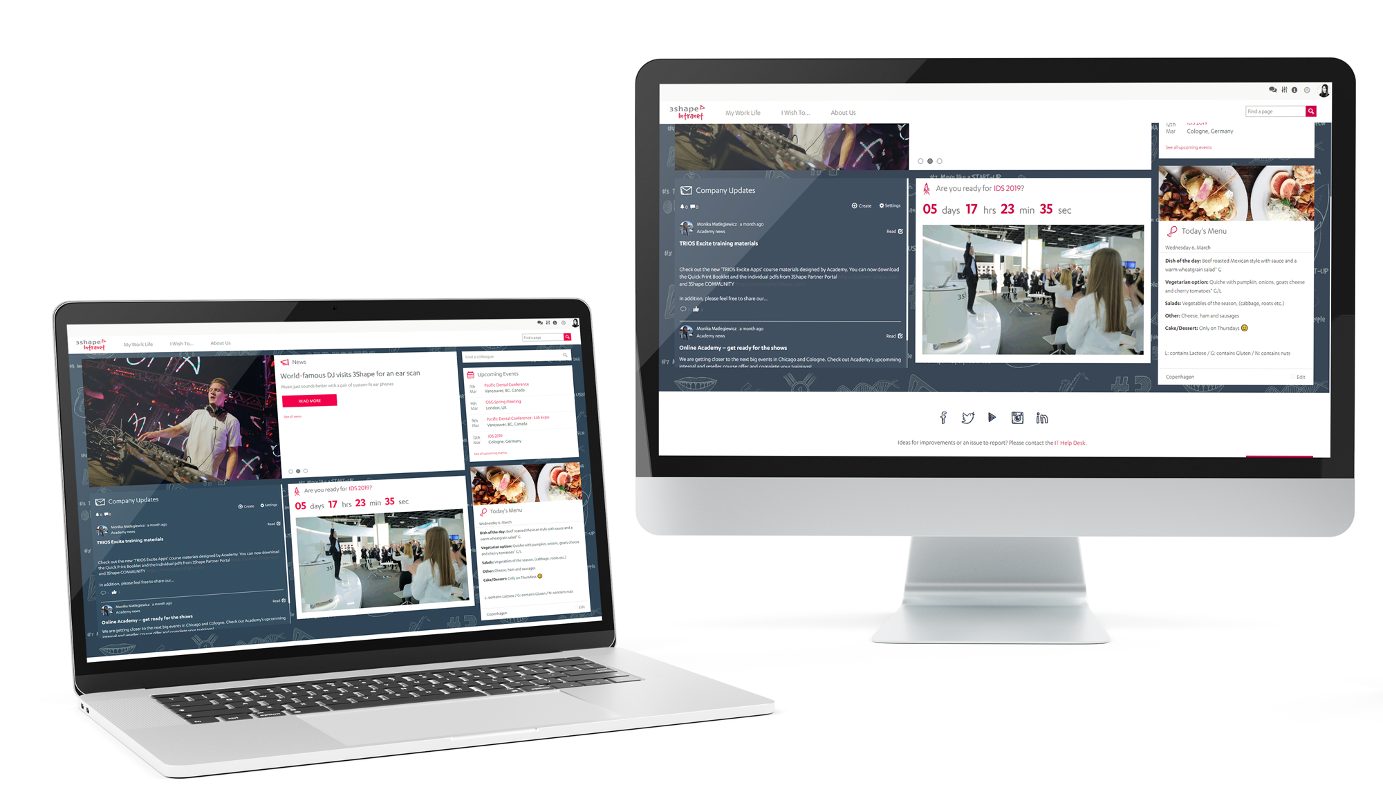We implemented an intranet for 3Shape, a health and dental