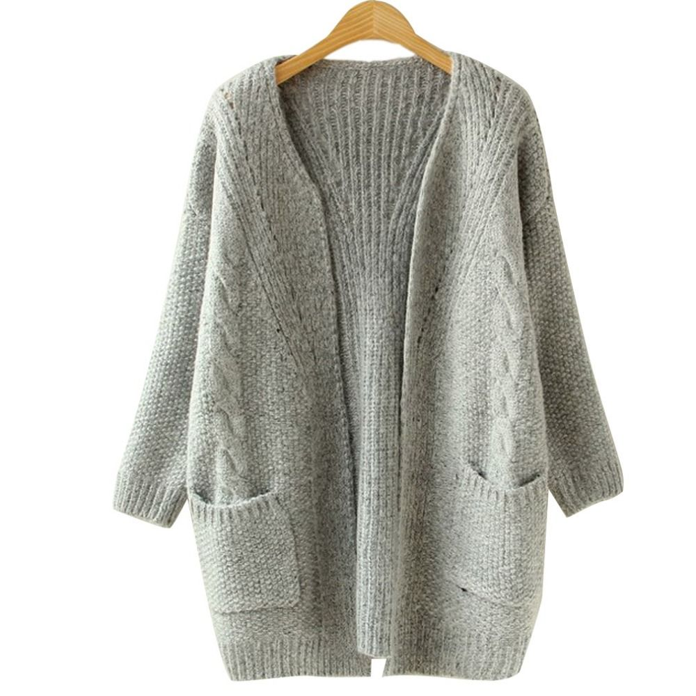 2016 Autumn Korean Version Solid Color Pocket Loose Sweater Female ...