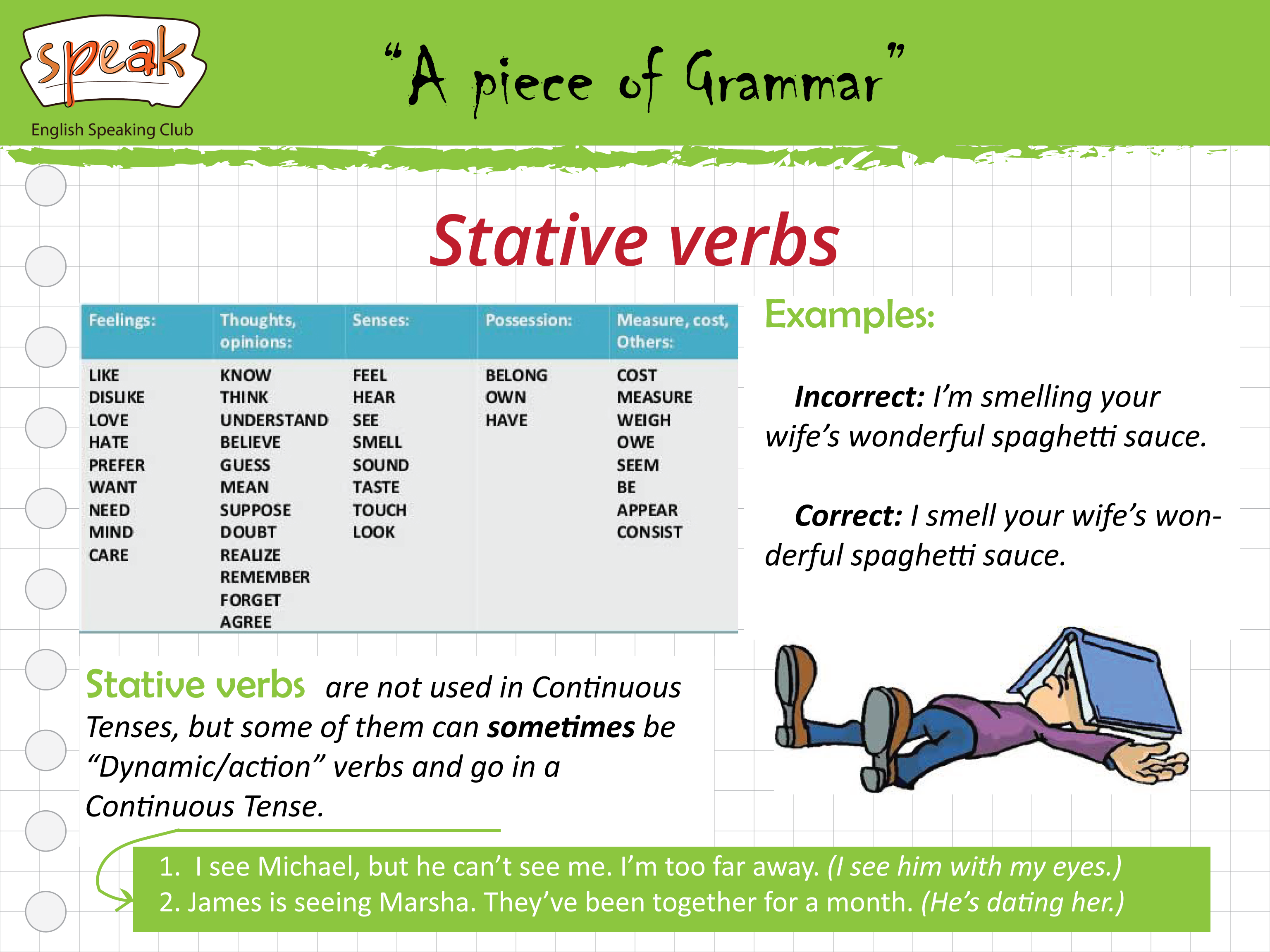 State action verbs exercises pdf