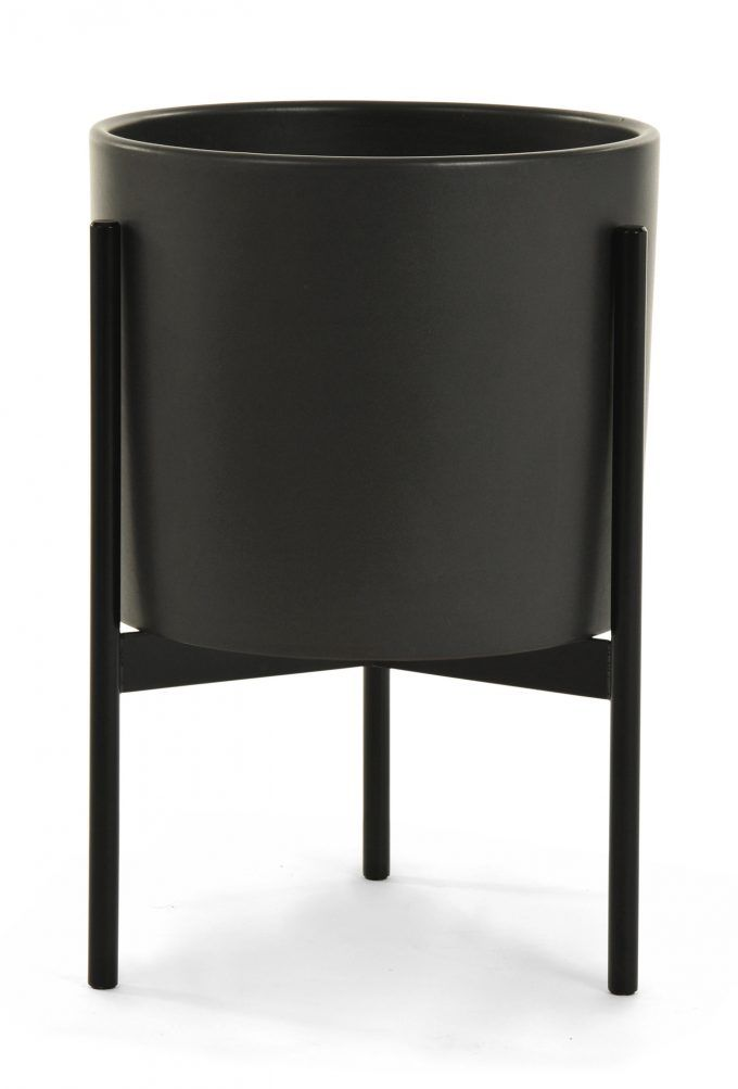 Planters Modern Outdoor Planters And Black Modern Planters With Metal Stand  For Modern Patio Design