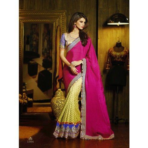Magnetic Magenta And Gold Pure Viscose Designer Saree #saree #sarees #designersaree #indianfashion #partywear #onlineshopping