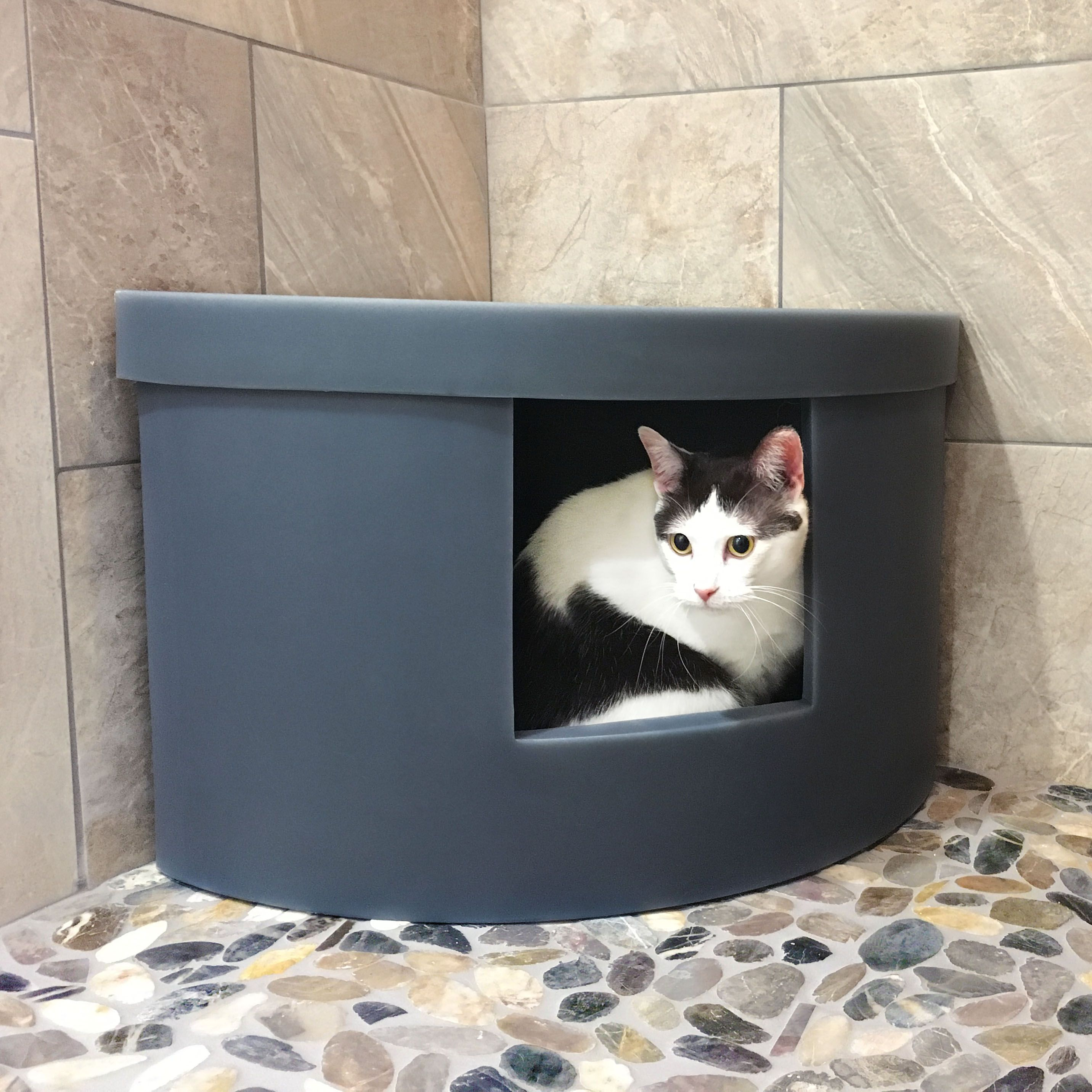 Corner Kitty litter boxes fit just about an nook in your