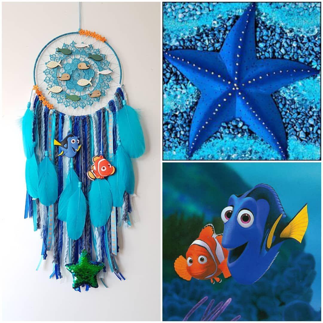 ❥ Nemo & Dory   Dreamcatcher Decoration   Christmas card crafts ...