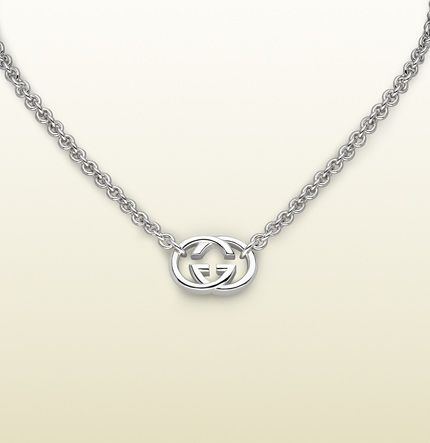 Gucci Necklace With Interlocking G Motif Pendant 190489j84008106 Silver Earrings Outfit Hammered Silver Jewelry Silver Jewelry