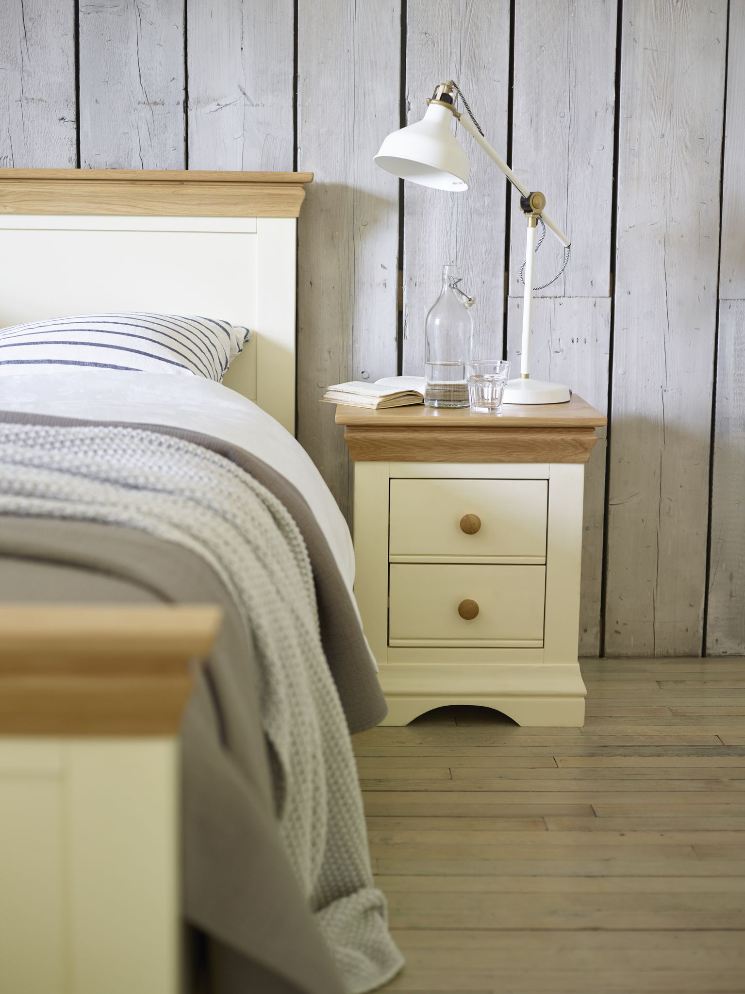 Matching Bed And Bedside Table In Lovely Country Cottage Finish! See Our  Website For This Part 64