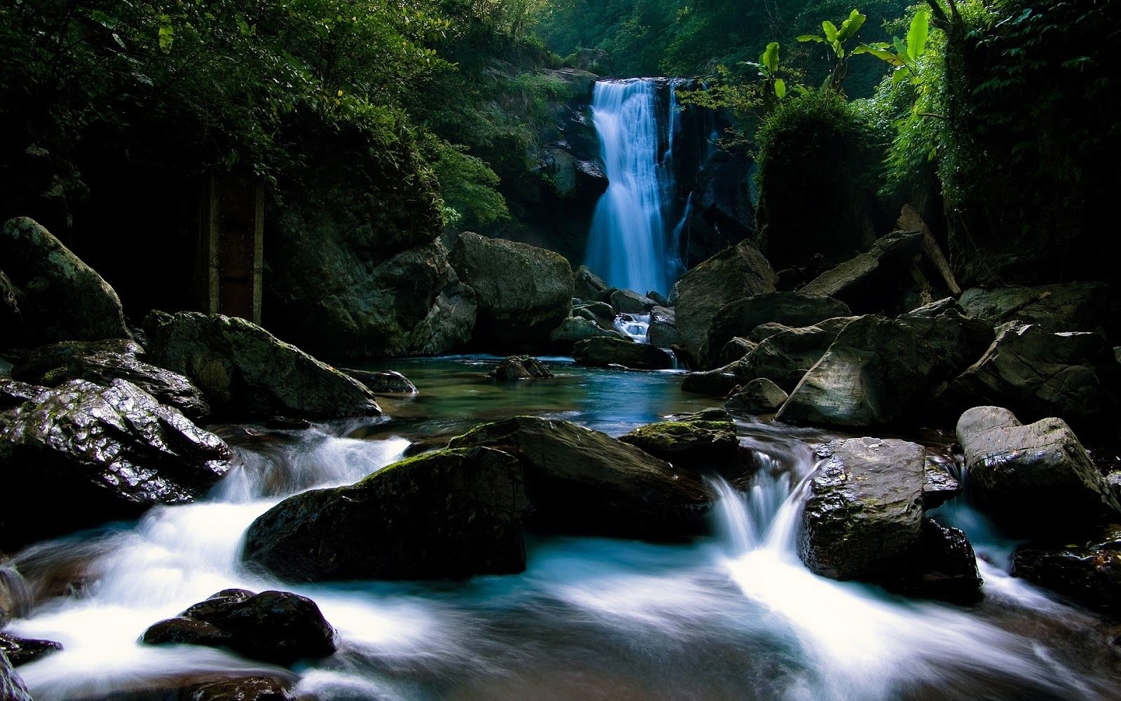 Waterfall In The Woods Waterfall Wallpaper Nature Wallpaper Waterfall