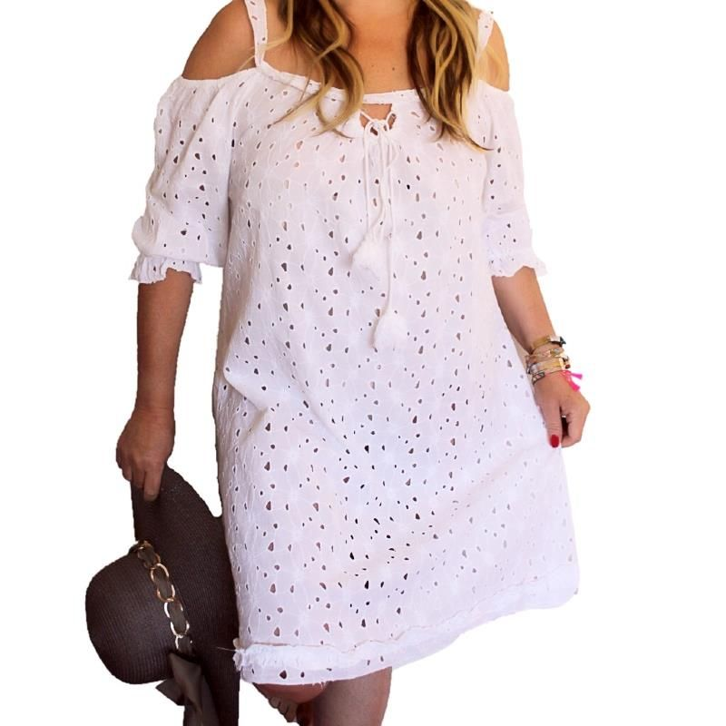ROBE BRODERIE ANGLAISE GRANDE TAILLE (con