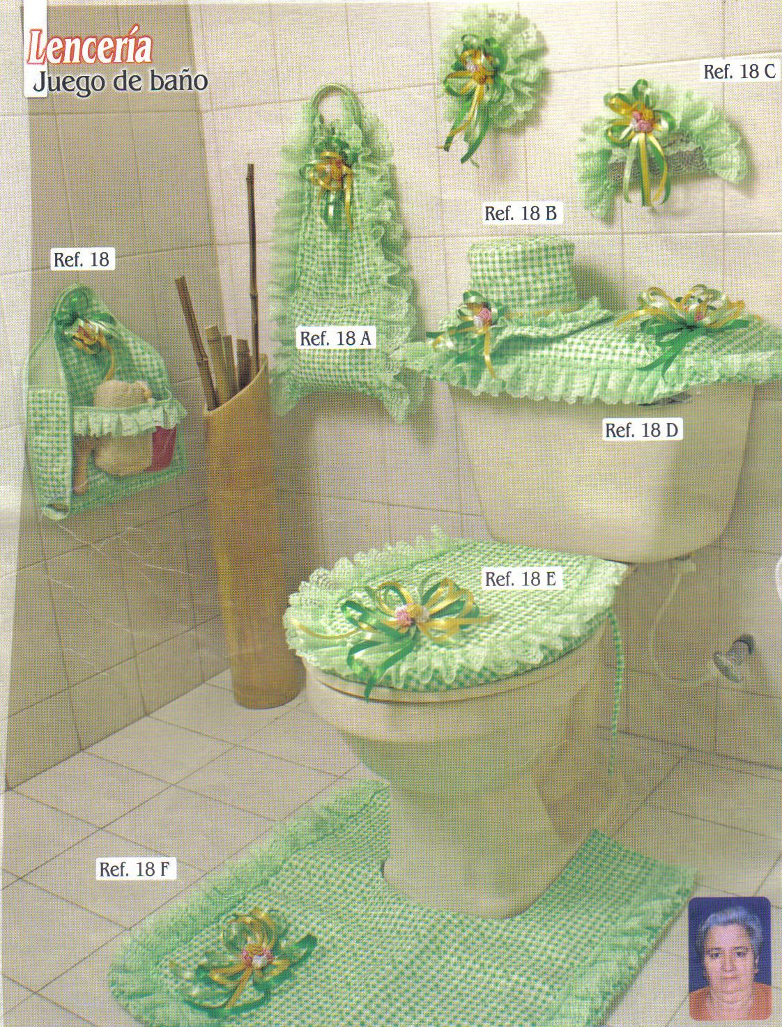 Juego de baño en tela. | Juegos de baño | Pinterest | Crochet ...