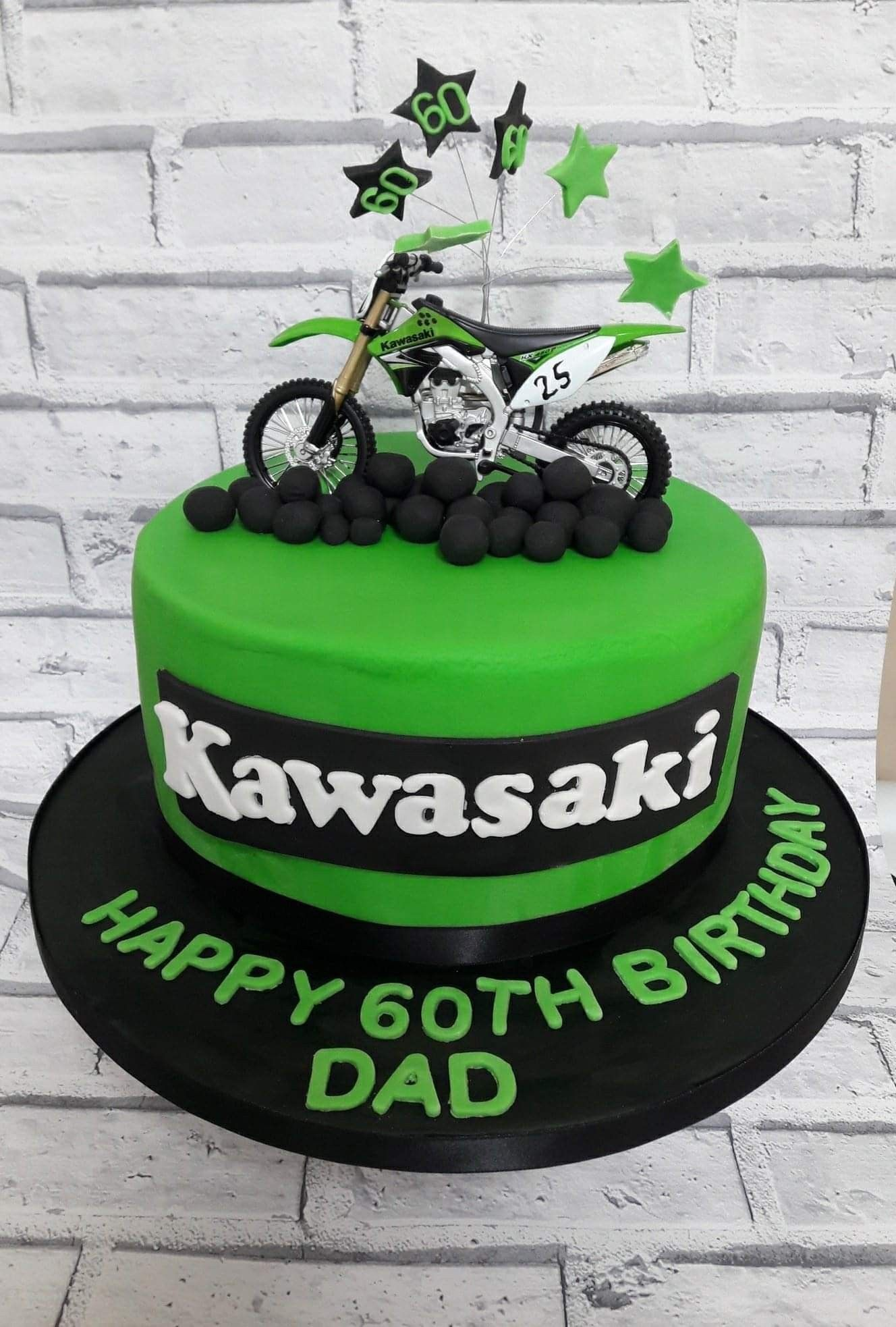 Awe Inspiring Kawasaki Bike Cake With Images Adult Birthday Cakes Birthday Birthday Cards Printable Trancafe Filternl