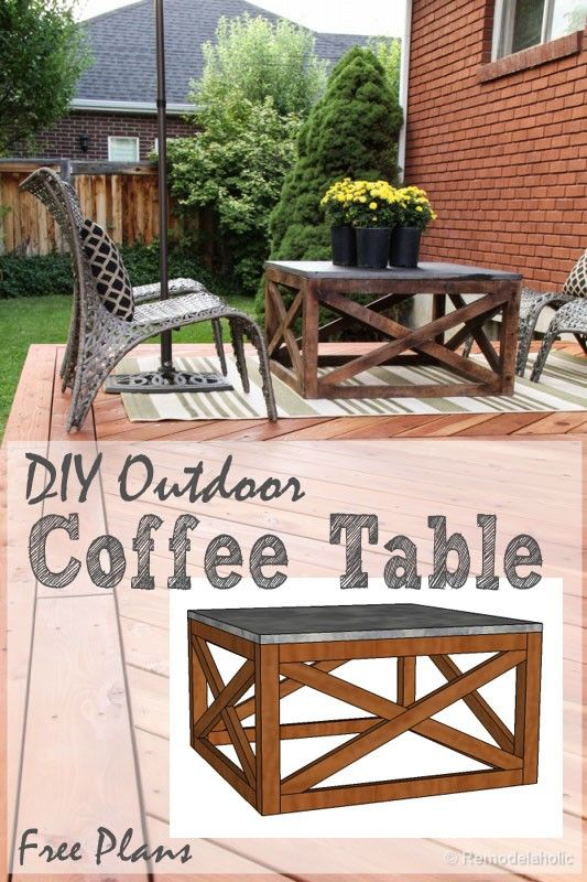 This Is The Perfect Outdoor Coffee Table For The Deck Love The X