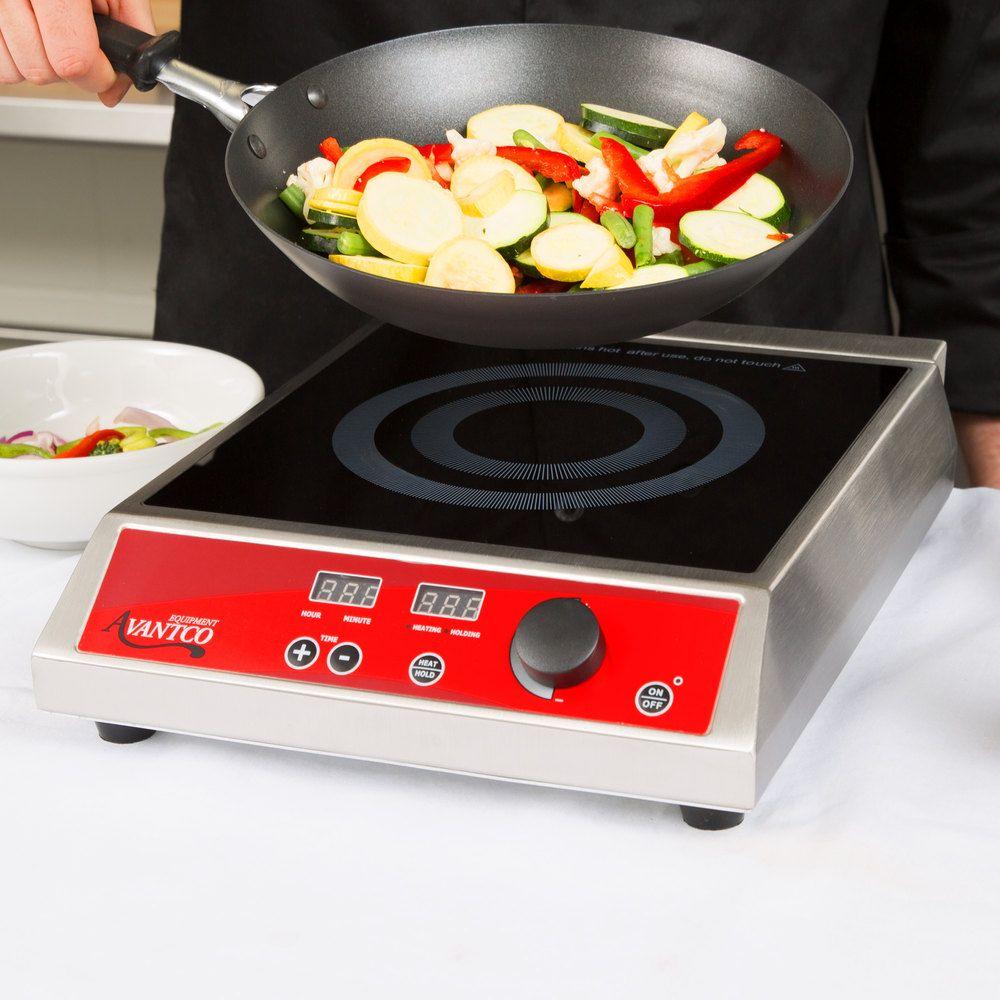 Avantco Ic1800 Countertop Induction Range Cooker 120v 1800w
