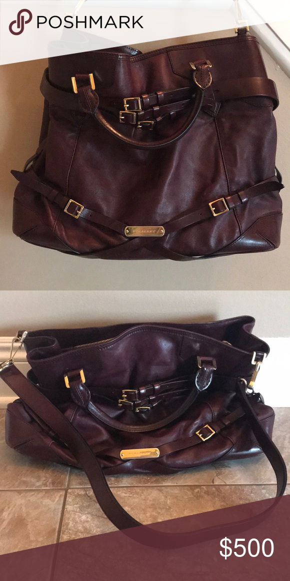 c0cceef354f8 Burberry bag Burberry burgundy leather purse Burberry Bags Shoulder Bags