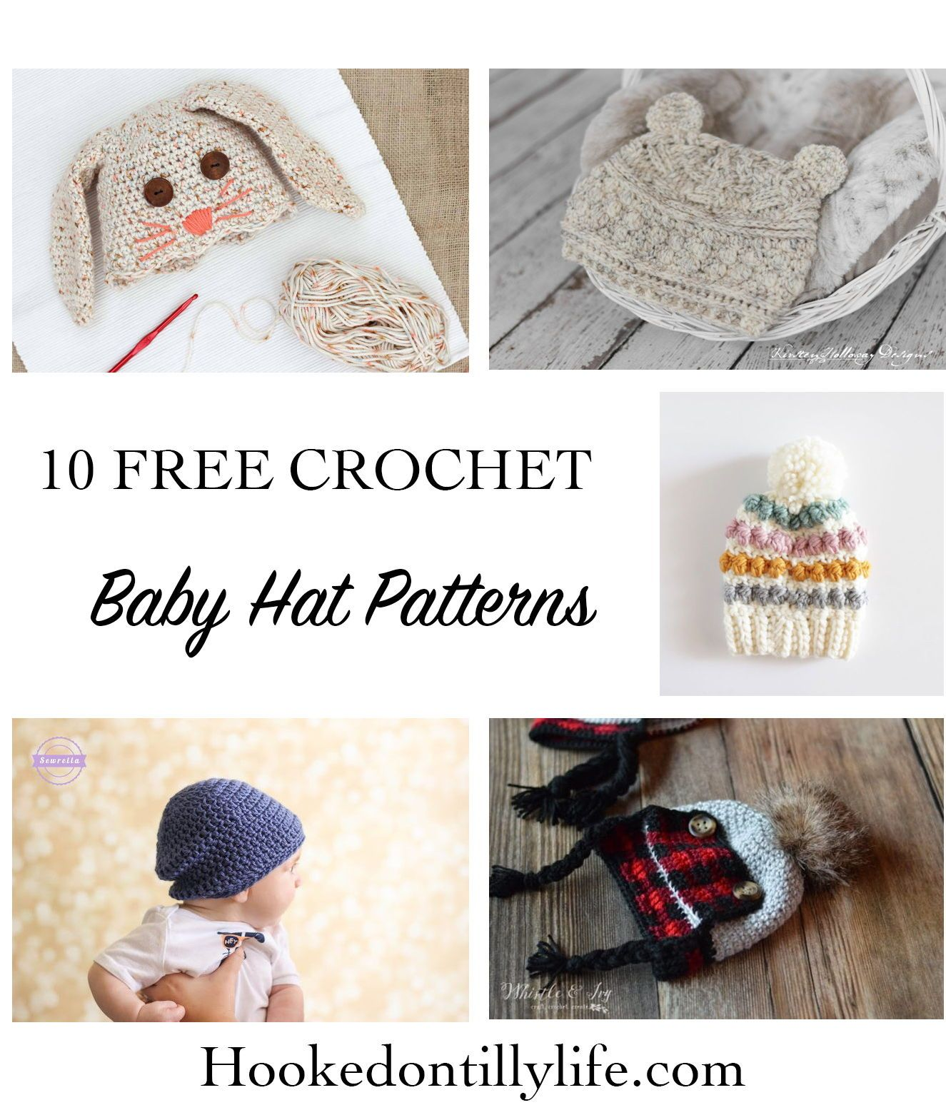 75c3be2c0 10 FREE Baby Hat Patterns - Crochet Roundup | Rustic Stitches ...