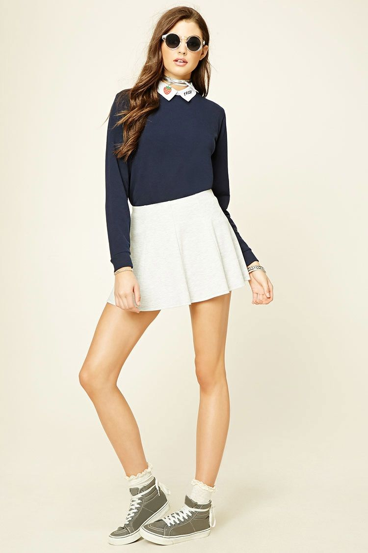 Graphic Collar Sweater
