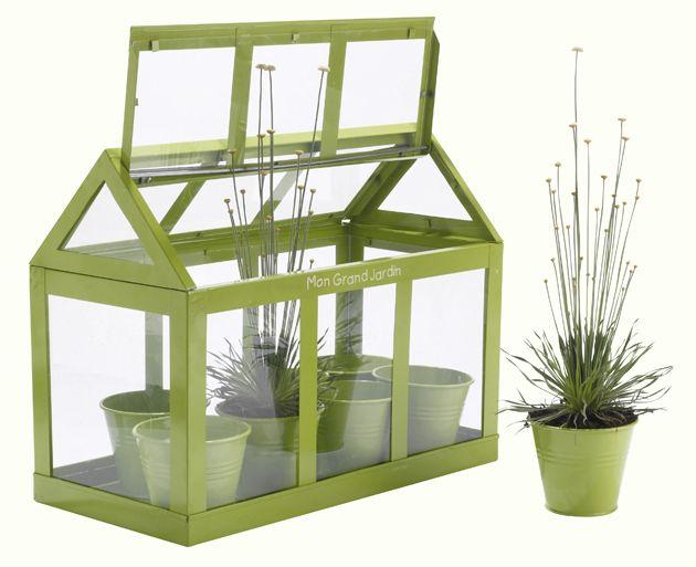 Jardiland Serre De Jardin 2  Mini Serre A Semis  Green