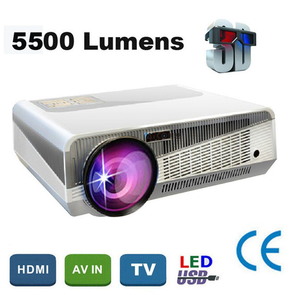 Really LED 3000lumens 1280800 lumens support 3D projector home ...