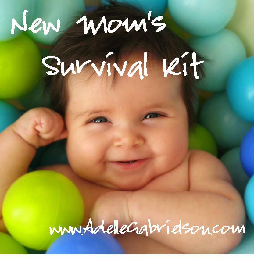 New Mom's Survival Kit - everything a new mom needs (but doesn't know about yet).