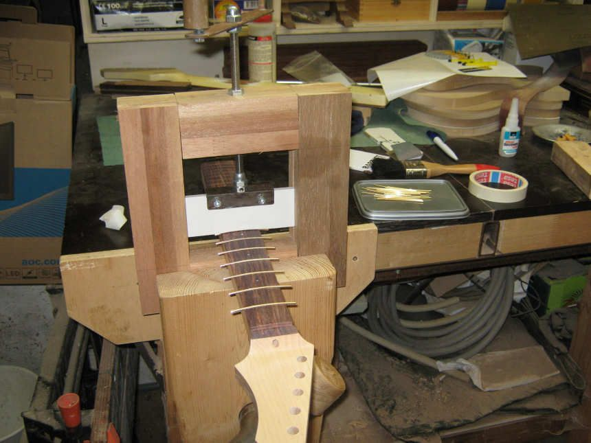 Fret Press Fret Clamp By Aiko Timmer Guitar Construction