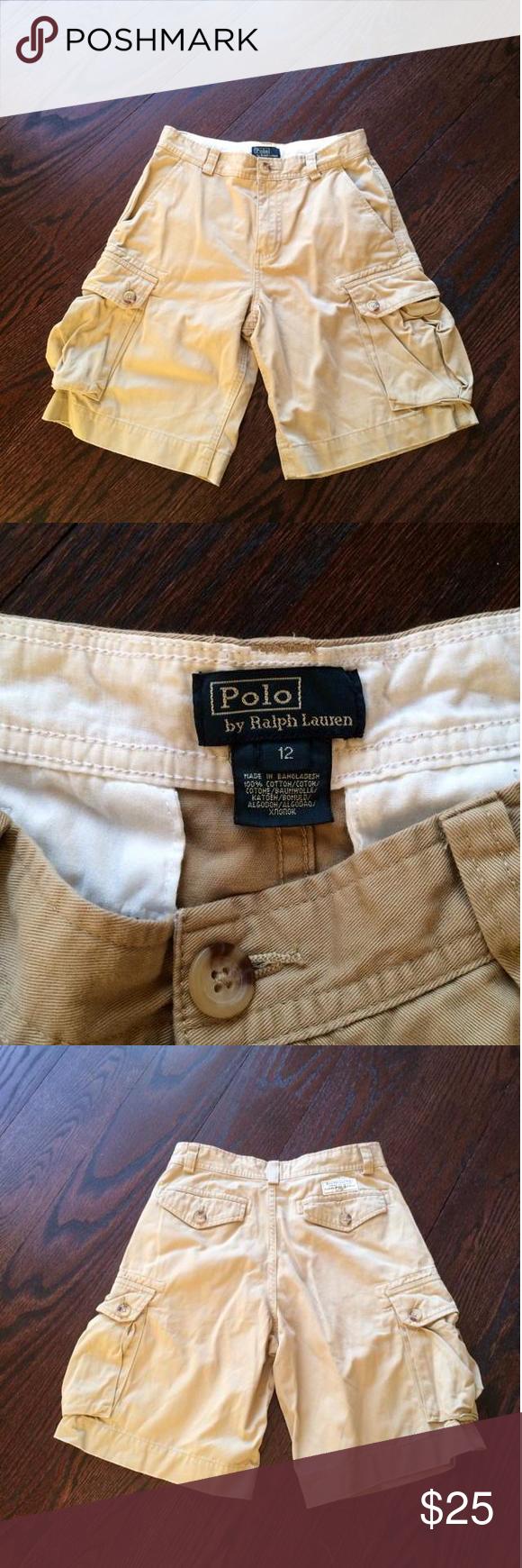 Polo Ralph Lauren beige cargo shorts Polo ralph lauren beige cargo shorts, size 12 Ralph Lauren Bottoms Shorts