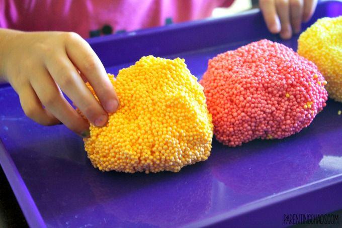 Diy Floam Recipe Preschool Science Sensory Diy Floam Kids Motor Crafts For Teens