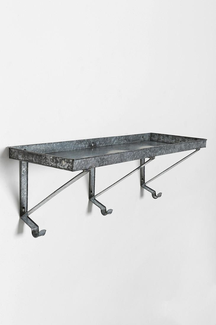 Galvanized Metal Wall Shelf Urban Outfitters Corrugated
