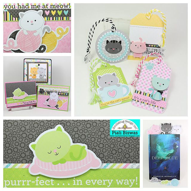 Doodlebug Design Inc Blog: Smitten Kitten Collection: Cards, Bookmarks & Tags Oh My!