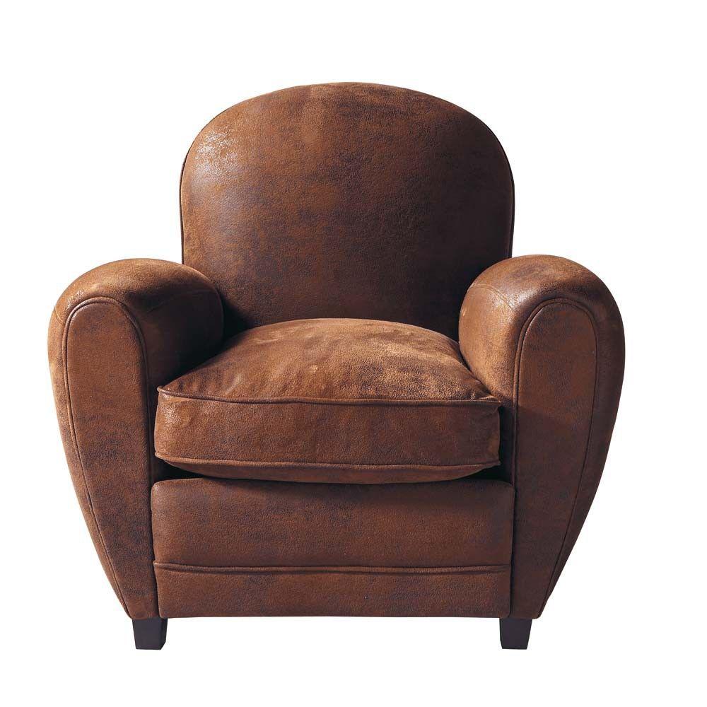Poltrona Club Vintage.Poltrona Club Marrone In Microfibra Furniture Armchair