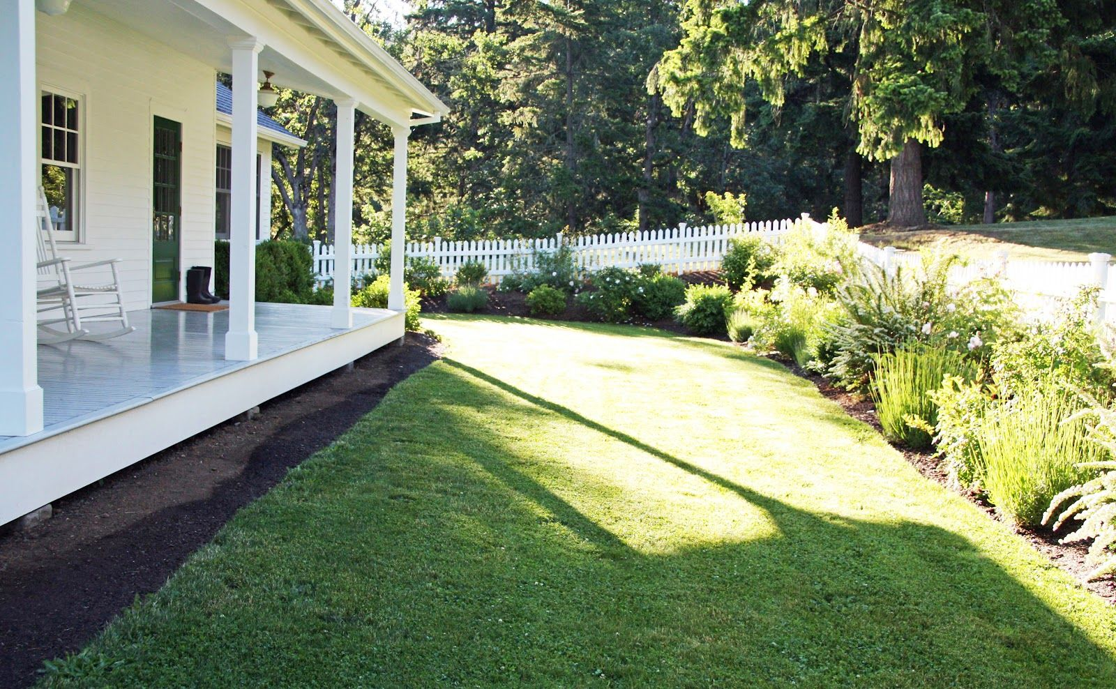 country farmhouse landscaped