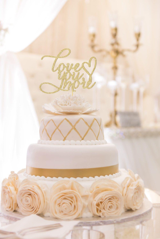Love You More Wedding Cake Topper Topper Rustic Cake Topper Wedding Cake Glitter Cake Topper Script Cake Topper Word Cake Topper By