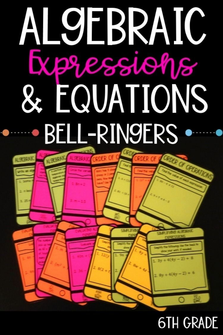 Add A Little Fun To Your Sixth Grade Algebraic Expressions And