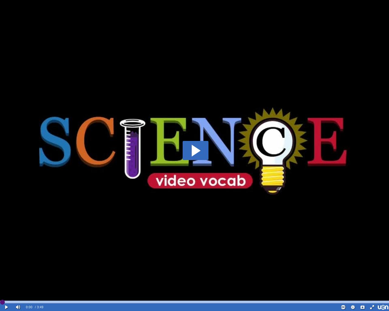 Science Video Vocab Erosion