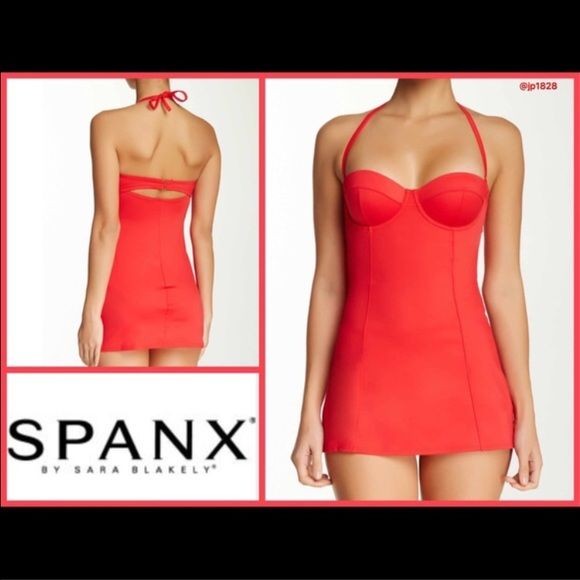 94ed64e2fc Spanx Retro Dresskini Swim Top - Fruit Punch Red New Spanx dresskini top  still in manufacturer