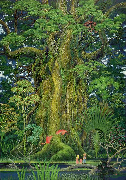 secret of mana background concept that really lovely!