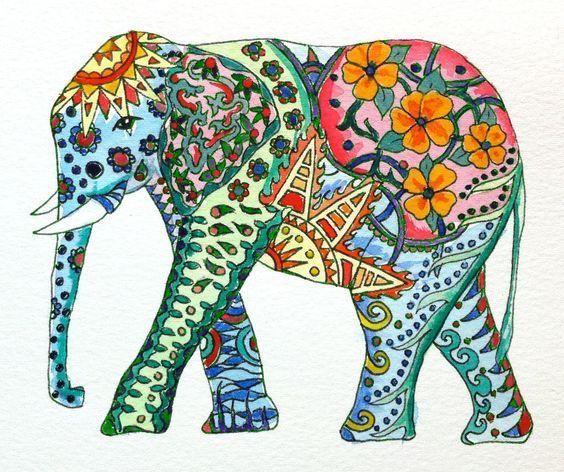 55c53520c70e14e7556705bf4911a742 Watercolor Elephant Colorful Elephant Tattoo Elephant Art