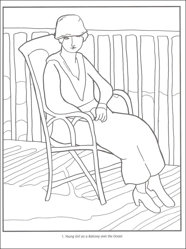 Henri Matisse Coloring Book in