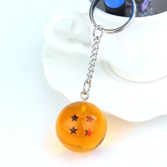 Cartoon Anime Dragon Ball Z Keychain DBZ Stars Ball Keyrings Pendant key holder