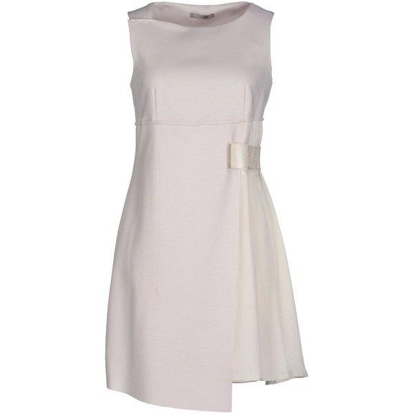 Toy G. Short Dress (245 AUD) ❤ liked on Polyvore featuring dresses, light grey, light gray dress, short dresses, mini dress, sleeveless dress and two-tone dress