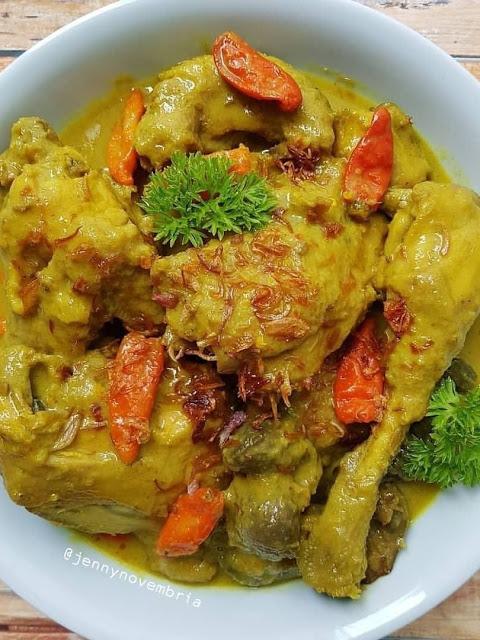 Resep Opor Ayam Food Chicken Pedas