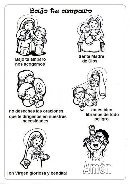 El Rincon De Las Melli Virgen Maria Catequesis Oraciones
