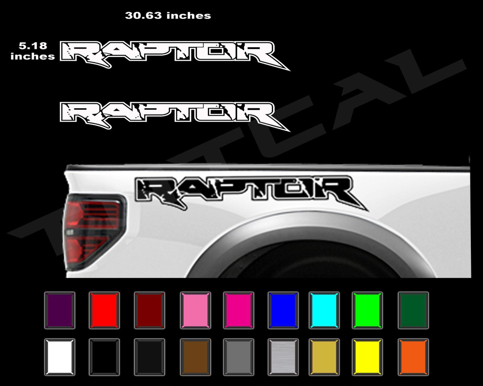 Ford Raptor Truck Side Bed Lettering Decals Vinyl Graphic Sticker 2010 2014 In Ebay Motors Parts Accessories Ca Ford Raptor Truck Ford Raptor Raptor Truck
