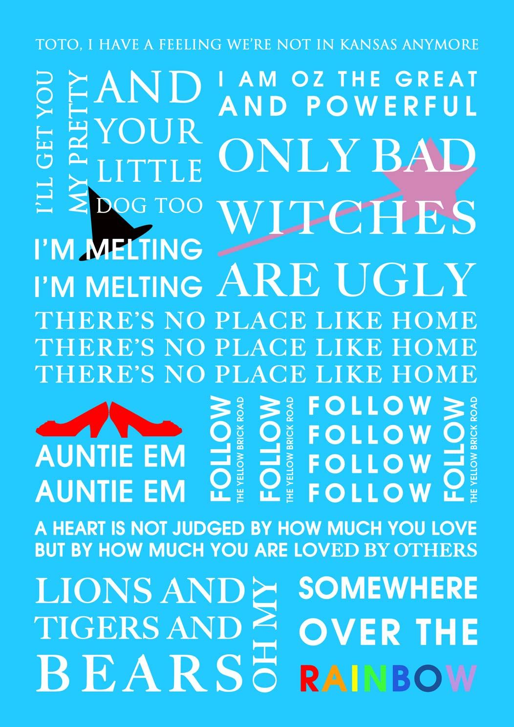 Wizard Of Oz Love Quotes Wizard Of Oz Movie Quote Print ♥ The Wizard Of Oz