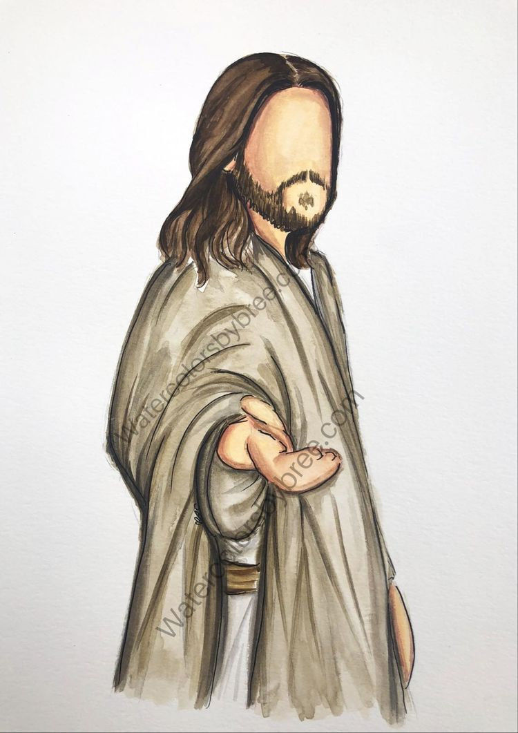 Beautiful Watercolor Picture Of Jesus Birth Jesus Christ