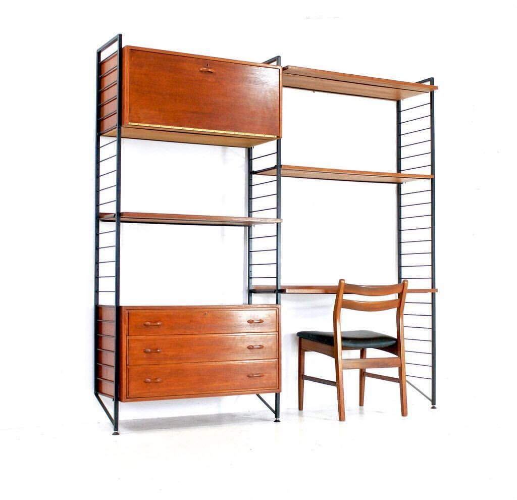 These Ladderax Wall Unit Where Produced By Staples During The 1960s Fantastic Design Where You Don T Need To Have Lots Of Holes Wall Unit Furniture Home Decor