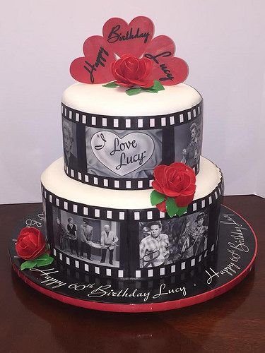 I Love Lucy Birthday Cake With Images Photo Cake 60th