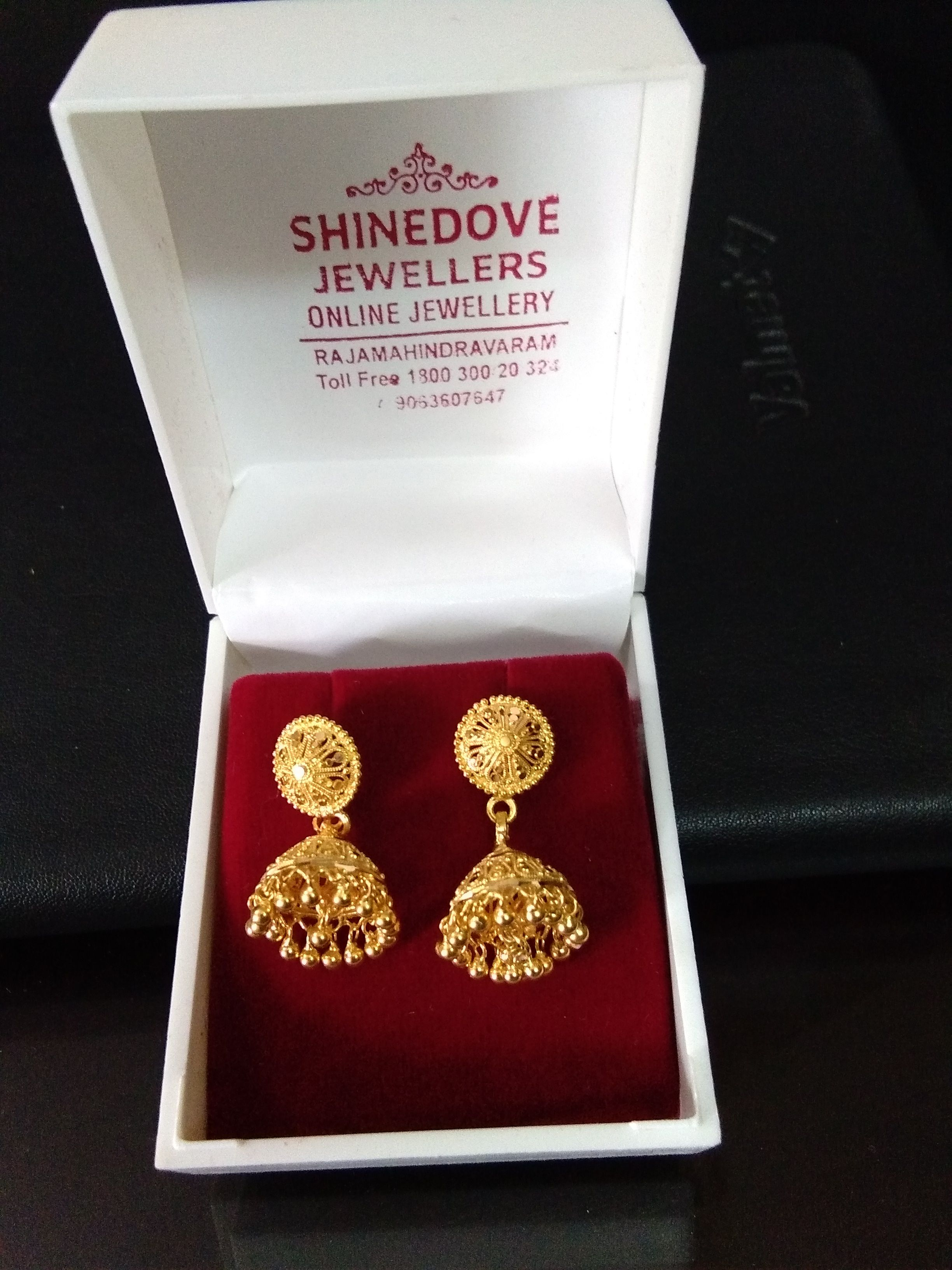 Ready For Sale Gold Buttalu Pure Handmade 916 Kdm Hallmark Gold Earrings Weight 8 Grams Cod Card Gold Earrings Gold Buttalu Online Jewelry