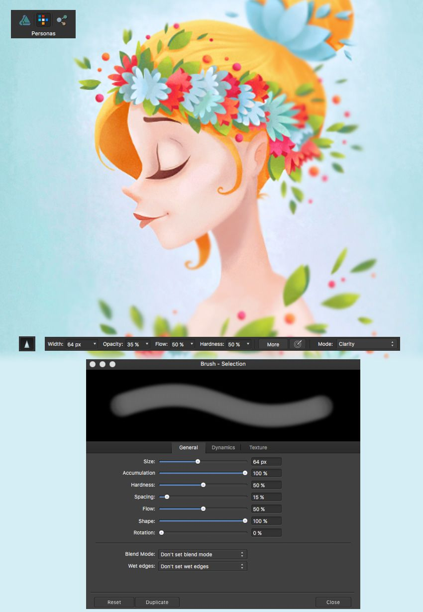 affinity designer sharpen brush tool | Affinity Designer
