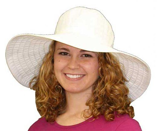 Amazon.com: Packable Sun Hat - Ginger (White): Clothing  $35