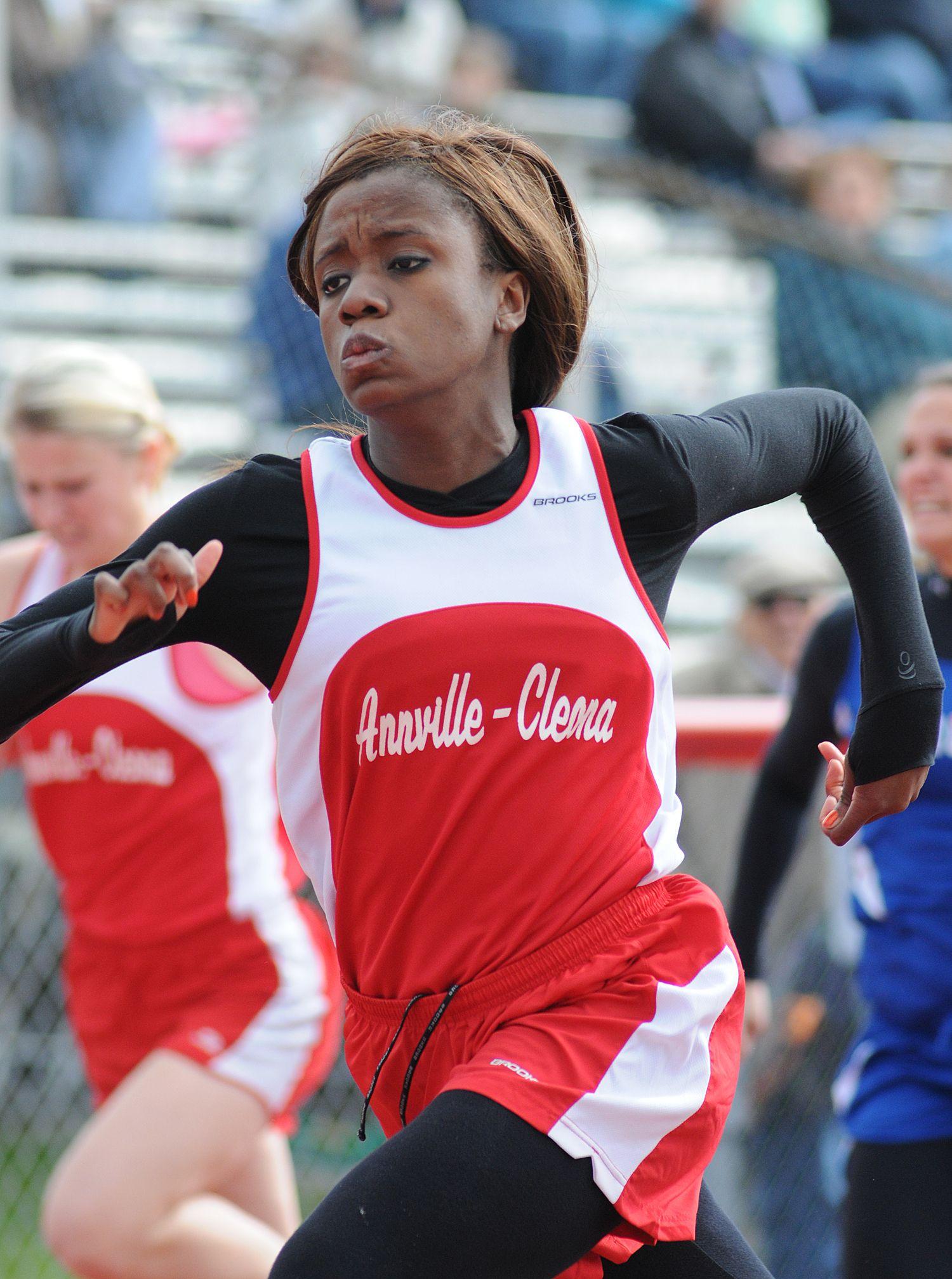 AnnvilleCleona's Angel Jacabella during the 100m dash